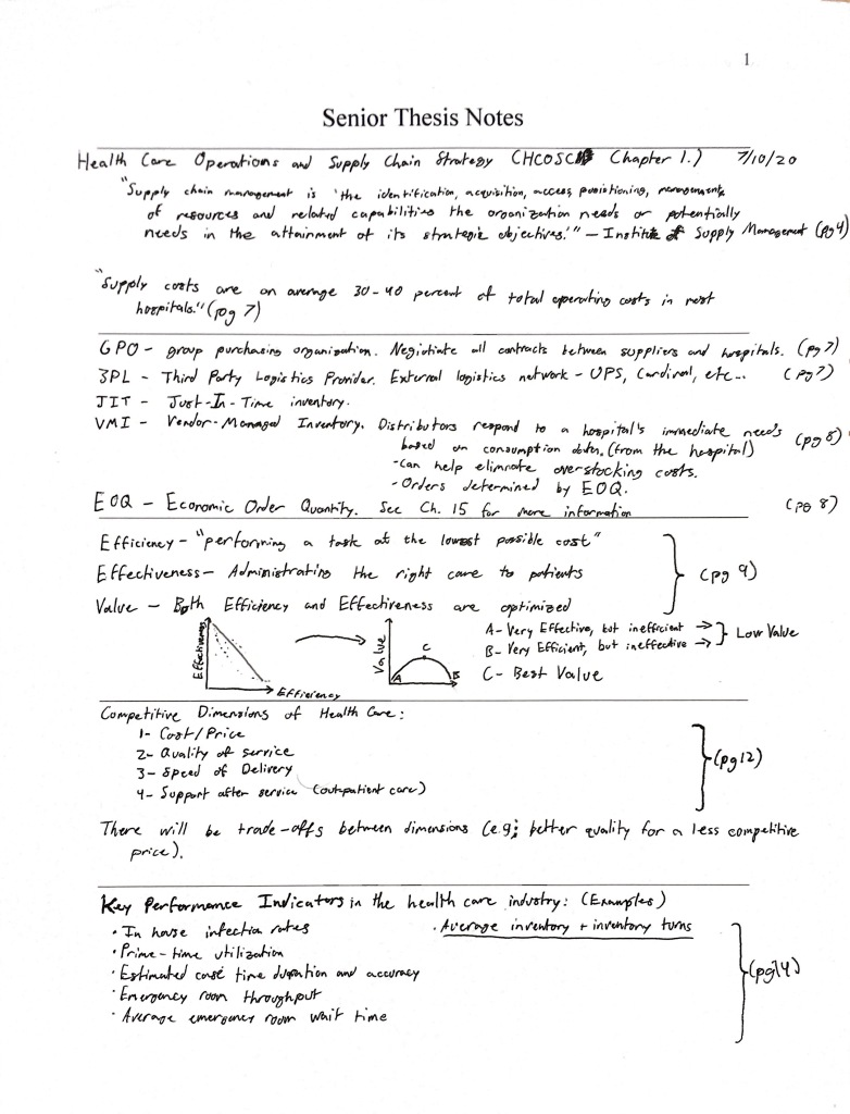 HCOSCM Chapter 1 Notes